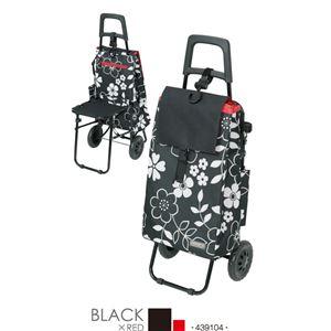 【cocoro (ココロ)】FLOWER(フラワー) ショッピングカートチェアー/ブラック - 拡大画像