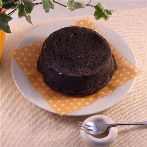黒いチーズケーキ 3台 (直径約12cm) - 拡大画像