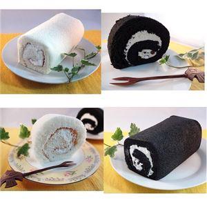 白黒ロールケーキセット 4本 - 拡大画像