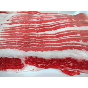 アメリカ産 牛カルビ&カナダ産 三元豚 豚ロース 【スライス肉 各2kg】 精肉 〔ホームパーティー 家呑み バーベキュー〕