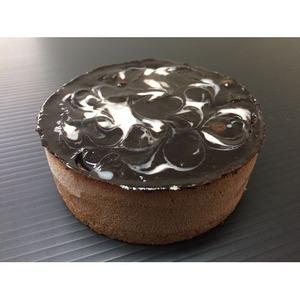 マーブルショコラムースケーキ/業務用ケーキ 【4号】 直径約12cm 日本製 〔スイーツ デザート お取り寄せ〕 - 拡大画像