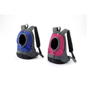 小型犬用リュック/ペット用バッグ 【ブルー】 前向き・後ろ向き可 飛び出し防止フック付き - 拡大画像