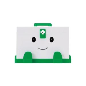 けんこうパートナー 「スマイルメディくん」 薬箱 カード入れ付き - 拡大画像