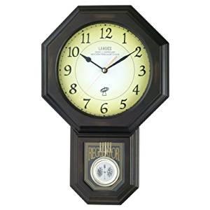昔ながらのアンティーク風の木製振り子時計 壁掛け時計の「電波振り子時計/電波の古時計 【ダークブラウン】 アンティーク調 『LANDEX ランデックス』」