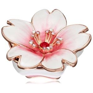 ジュエリーボックス/宝石箱 【桜 ホワイト】 クリスタルガラス使用 『PIEARTH』 - 拡大画像