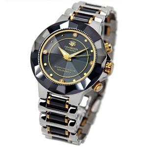 ソーラー電波時計/腕時計 【紳士用】 4石天然ダイヤモンド付き 『JON HARRISON』 - 拡大画像