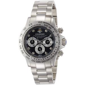 J.harrison 腕時計8石天然ダイヤモンド付多機能自動巻&手巻き腕時計 JH-014DS メンズ - 拡大画像