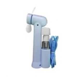 ミストスプレーファン ミスト機能付きハンディ扇風機 カラー:ブルー - 拡大画像