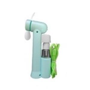 ミストスプレーファン ミスト機能付きハンディ扇風機 カラー:グリーン - 拡大画像