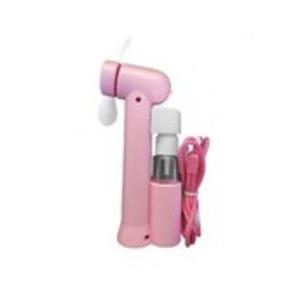 ミストスプレーファン ミスト機能付きハンディ扇風機 カラー:ピンク - 拡大画像