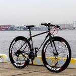 クロスバイク 700c(約28インチ)/ブラック(黒) シマノ21段変速 重さ14.3kg 【NYMPH】 ニンフ CAC-025