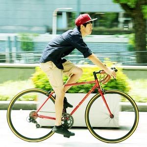 ロードバイク 700c(約28インチ)/レッド(赤) シマノ14段変速 軽量 重さ11.5kg 【ORPHEUS】 オルフェウスCAR-013 - 拡大画像