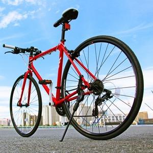 クロスバイク 700c(約28インチ)/レッド(赤) シマノ21段変速 アルミフレーム 軽量 重さ11.2kg 【VENUS】 ビーナス CAC-021 - 拡大画像
