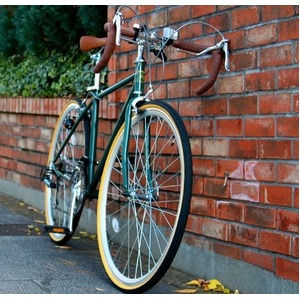 ロードバイク 700c(約28インチ)/アイビーグリーン(緑) シマノ21段変速 重さ/14.4kg 【Raychell】 レイチェル RD-7021R - 拡大画像