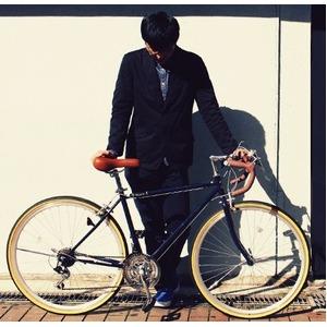 ロードバイク 700c(約28インチ)/ネイビーブルー(青) シマノ21段変速 重さ/14.4kg 【Raychell】 レイチェル RD-7021R - 拡大画像