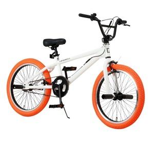 BMX 20インチ/ホワイト(白)&オレンジ 重さ/14.4kg 【Raychell】 レイチェル BM-20R - 拡大画像