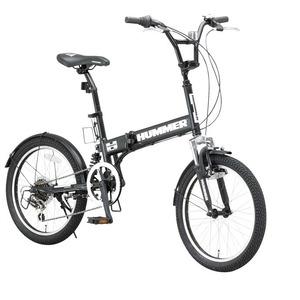 折りたたみ自転車 20インチ/マットブラック(黒) シマノ6段変速 【HUMMER】 ハマー FDB206 W-sus - 拡大画像