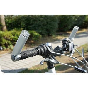 多機能ウィンカー(自転車方向指示器) 【180degree】 バーエンド MW-01 ホワイト(白) 〔自転車パーツ/アクセサリー〕 - 拡大画像