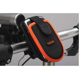 フォンケース(携帯電話ケース)&ミニバー装備ブラケットセット 【IBERA】 IB-PB1+Q2 ブラック(黒) 〔自転車パーツ/アクセサリー〕 - 拡大画像