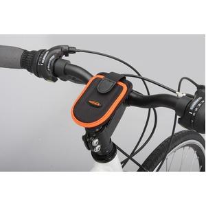 フォンケース(携帯電話ケース)&ステム用ブラケットセット 【IBERA】 IB-PB1+Q4 ブラック(黒) 〔自転車パーツ/アクセサリー〕 - 拡大画像
