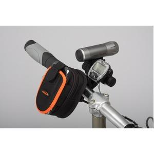 フォン&ジップケース(携帯電話ケース)&ミニバー装備ブラケットセット 【IBERA】 IB-PB2+Q2 ブラック(黒) 〔自転車パーツ/アクセサリー〕 - 拡大画像