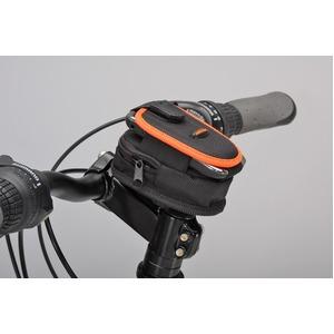 フォン&ジップケース(携帯電話ケース)&ステム用ブラケットセット 【IBERA】 IB-PB2+Q4 ブラック(黒) 〔自転車パーツ/アクセサリー〕 - 拡大画像