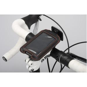 iPod/iPhoneケース&ステム用ブラケットセット 【IBERA】 IB-PB3+Q4 ブラック(黒) 〔自転車パーツ/アクセサリー〕 - 拡大画像
