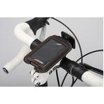 iPod/iPhoneケース&ステム用ブラケットセット 【IBERA】 IB-PB3+Q4 ブラック(黒) 〔自転車パーツ/アクセサリー〕