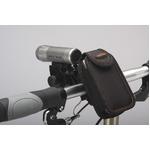 カラビナ付きフォンケース&ミニバー装備ブラケットセット 【IBERA】 IB-PB4+Q2 ブラック(黒) 〔自転車パーツ/アクセサリー〕