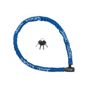 ワイヤーロック 1200mmワイヤー ディンプルキー4本付き 【J&C】 JC-006W ブルー(青) 〔自転車パーツ/アクセサリー〕 - 拡大画像
