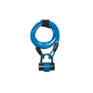 ワイヤーロック/多機能ロック 1800mmロングワイヤー 【J&C】 JC-019W ブルー(青) 〔自転車パーツ/アクセサリー〕 - 拡大画像
