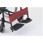 自走/介助折りたたみ車椅子 アミー22/ルビーレッド(赤) アルミ製 ノーパンク仕様/持ち手付き 【MIWA】 ミワ MW-22AIIN border=
