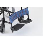介助式折りたたみ車椅子 アミー16/ターコイズブルー(青) アルミ製 持ち手付き 【MIWA】 ミワ MW-16A border=