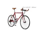 クロスバイク 27.5インチ/レッド シマノ21段段変速 重さ11.2kg フレームサイズ/520mm 【AlfaRomeo】 AL-TR650C