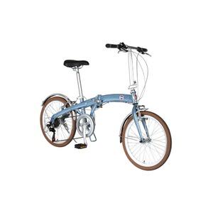 折りたたみ自転車 20インチ/ブルー(青) シマノ7段変速 重さ13.0kg 【FIAT】 フィアット AL-FDB207V - 拡大画像