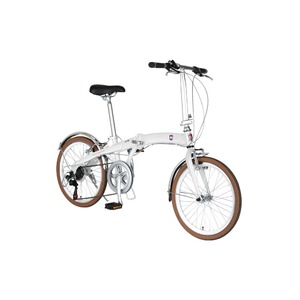 折りたたみ自転車 20インチ/ホワイト(白) シマノ7段変速 重さ13.0kg 【FIAT】 フィアット AL-FDB207V - 拡大画像