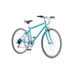 クロスバイク 700c(約28インチ)/ブルー(青) シマノ6段変速 重さ13.8kg 【RENAULT】 ルノー CRB7006S - 拡大画像