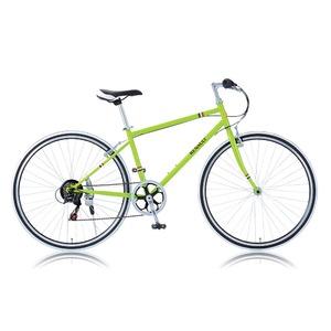 クロスバイク 700c(約28インチ)/グリーン(緑) シマノ6段変速 重さ13.8kg 【RENAULT】 ルノー CRB7006S - 拡大画像