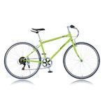 クロスバイク 700c(約28インチ)/グリーン(緑) シマノ6段変速 重さ13.8kg 【RENAULT】 ルノー CRB7006S