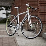 クロスバイク 700c(約28インチ)/ホワイト(白) シマノ7段変速 重さ 11.7kg アルミフレーム 【RENAULT】 ルノー AL-CRB7021