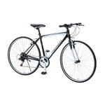 クロスバイク 700c(約28インチ)/ブラック(黒) シマノ6段変速 重さ13.0kg アルミフレーム 【CHEVY】 AL-CRB7006NX