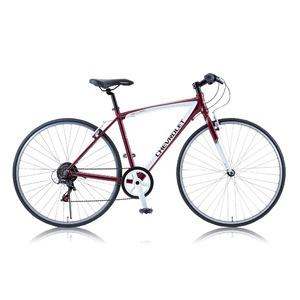 クロスバイク 700c(約28インチ)/レッド(赤) シマノ6段変速 重さ13.0kg アルミフレーム 【CHEVY】 AL-CRB7006NX - 拡大画像