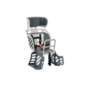 ヘッドレスト付き後ろ用子供乗せ(自転車用チャイルドシート) 【OGK】RBC-009DX3 Wグレー(灰) 〔自転車アクセサリー〕 - 拡大画像