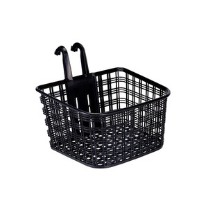 フロントバスケット(自転車カゴ) コンパクトタイプ 前用/脱着式 【OGK】FB-022 ブラック(黒) 〔自転車パーツ/アクセサリー〕 - 拡大画像