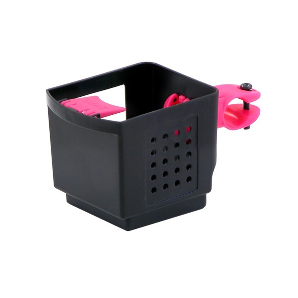 ドリンクホルダー 【OGK】 PBH-003 ブラック(黒)&ピンク 〔自転車パーツ/アクセサリー〕