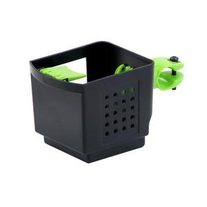 ドリンクホルダー 【OGK】 PBH-003 ブラック(黒)&グリーン(緑) 〔自転車パーツ/アクセサリー〕 - 拡大画像