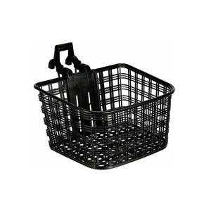 ATB/クロスバイク用バスケット(自転車カゴ) 脱着可 【OGK】FB-022X ブラック(黒) 〔自転車パーツ/アクセサリー〕 - 拡大画像