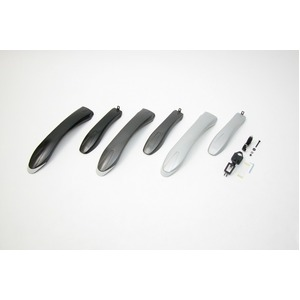 ATB用フェンダー(泥除け) 【OGK】 MF-018 ガンメタ 〔自転車パーツ/アクセサリー〕 - 拡大画像