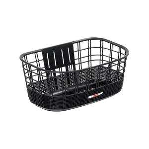 大型籐風バスケット(自転車カゴ) 【OGK】FB-038K ブラック(黒) 〔自転車パーツ/アクセサリー〕 - 拡大画像