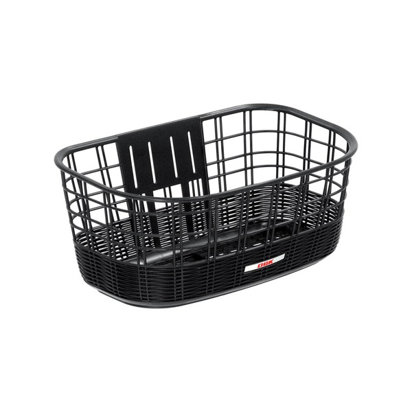 大型籐風バスケット(自転車カゴ) 【OGK】FB-038K ブラック(黒) 〔自転車パーツ/アクセサリー〕